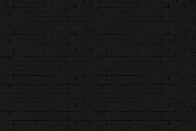 La texture du mur de briques noires.