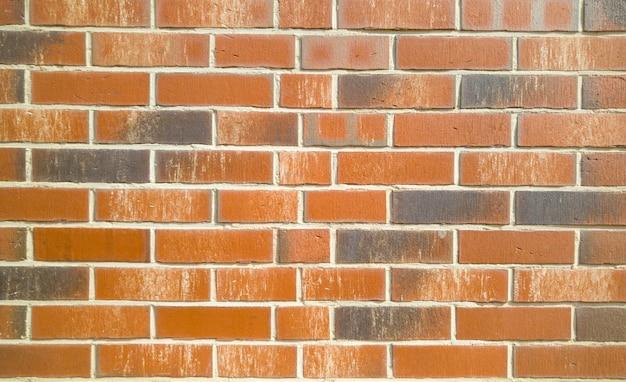 Texture du nouveau mur de briques rouges