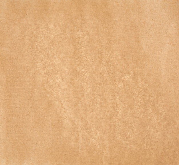 Texture du papier parchemin lisse brun clair, plein cadre