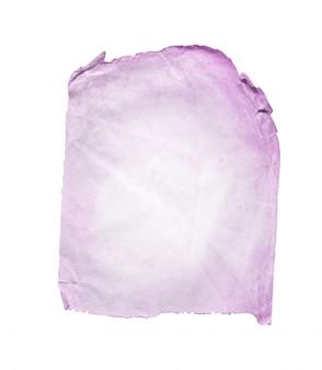 Texture du papier violet isolé sur blanc