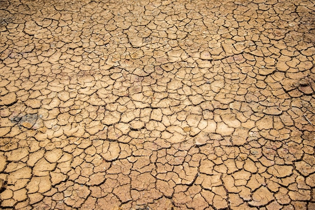 La texture du sol sec comme une température chaude