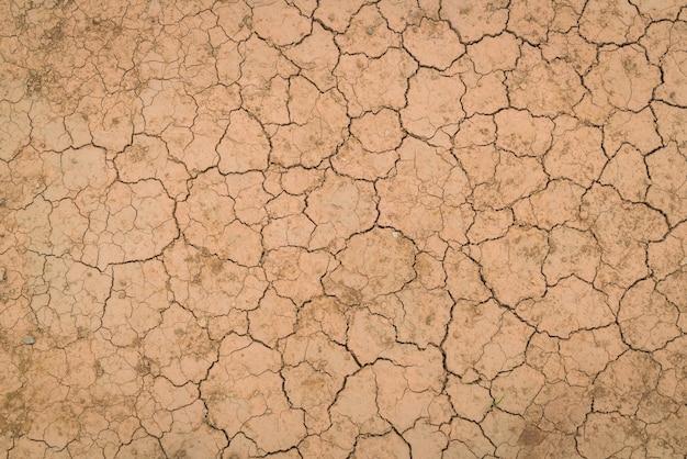Texture du sol sec et fissuré.