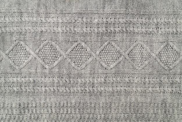 Texture du tissu d'un pull gris chaud
