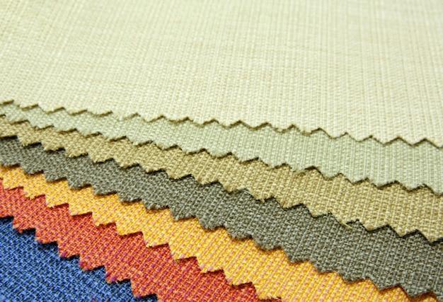 Texture du ton de couleur de l'échantillon de tissu