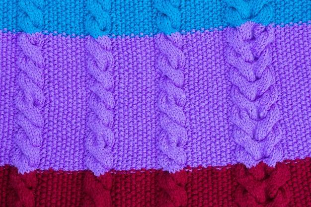 La texture du tricot