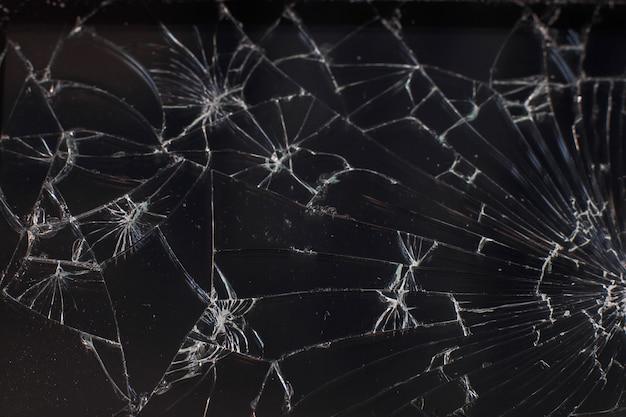 Texture du verre brisé dans une clé faible.