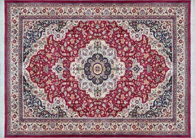 La texture du vieux tapis persan, ornement abstrait bleu laiteux et violet