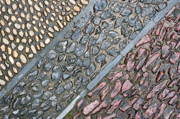 Texture élaborée faite de différentes pierres