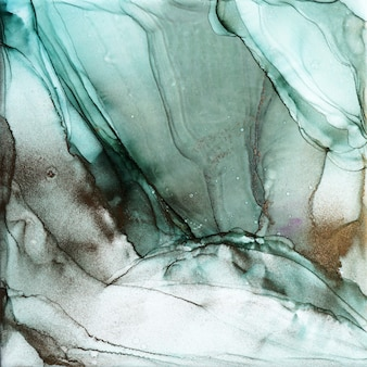 Texture d'encre abstraite d'alcool, photo macro