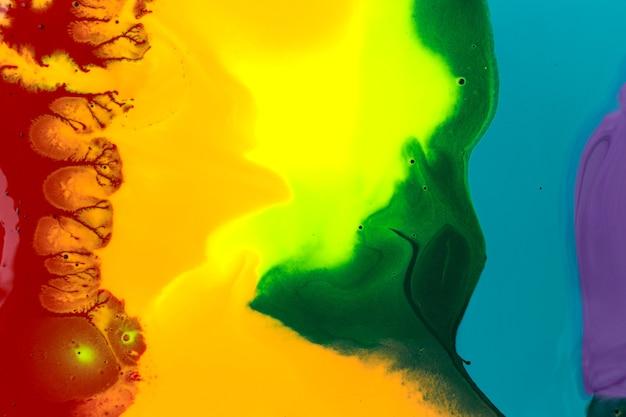 Texture d'encre acrylique liquide arc-en-ciel