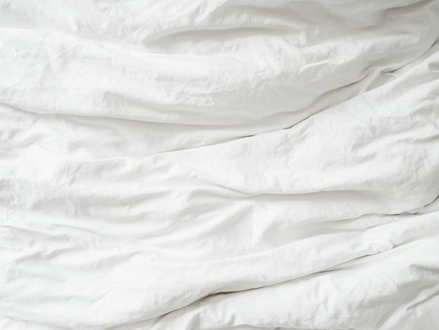 Texture fabique blanche texture froissée