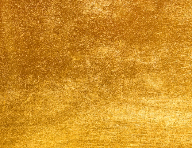 Texture feuille d'or jaune brillant