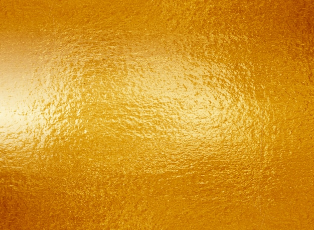 Texture de feuille d'or jaune brillant