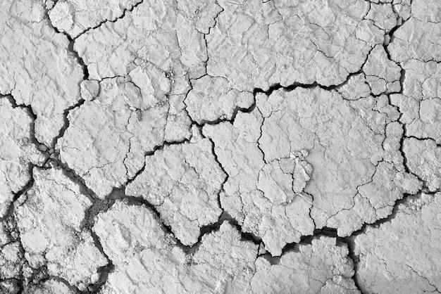 Texture de fissure du sol sec et sale et sol naturel