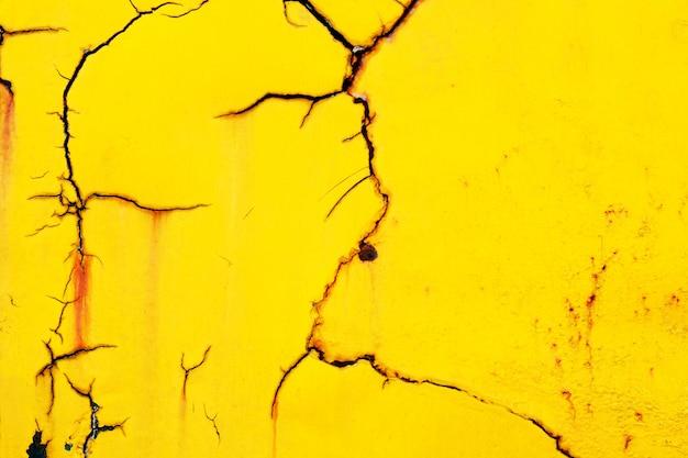 Texture de fissure jaune