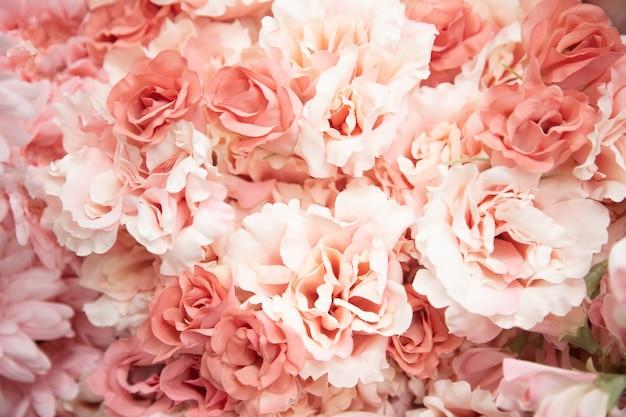 Texture de fleurs roses tendres libre