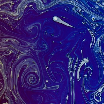 Texture de flux aquarelle recréée indigo