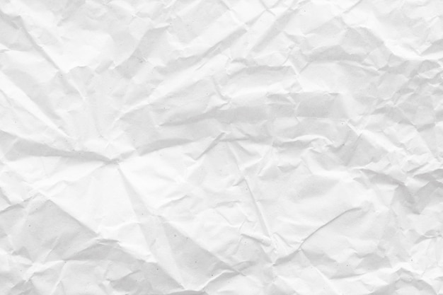 Texture de fond abstrait papier froissé blanc