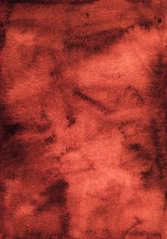 Texture de fond aquarelle rouge foncé. aquarelle abstrait vieux fond rouge foncé.