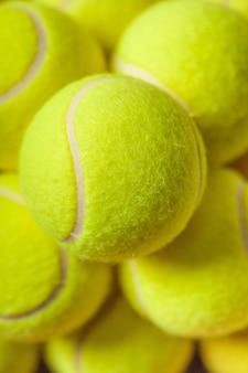 Texture de fond de balles de tennis