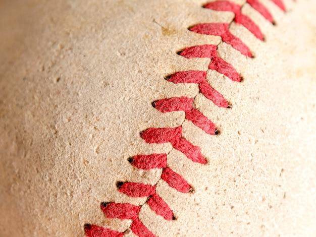Texture de fond de baseball vieux équipements de sport
