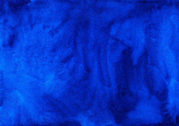 Texture de fond bleu profond aquarelle peinte à la main