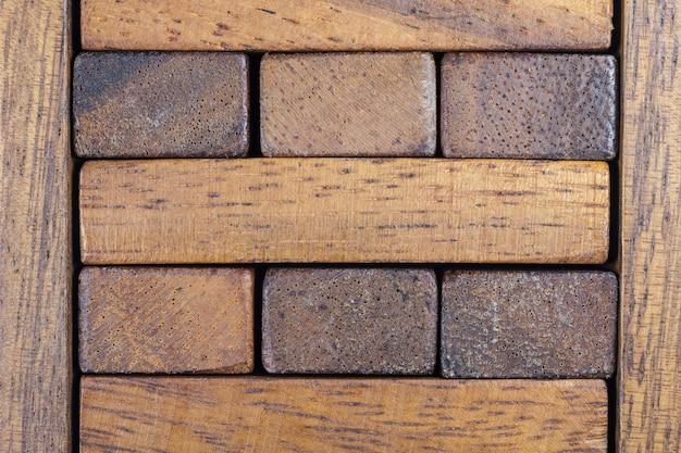 Texture de fond de bloc de bois.