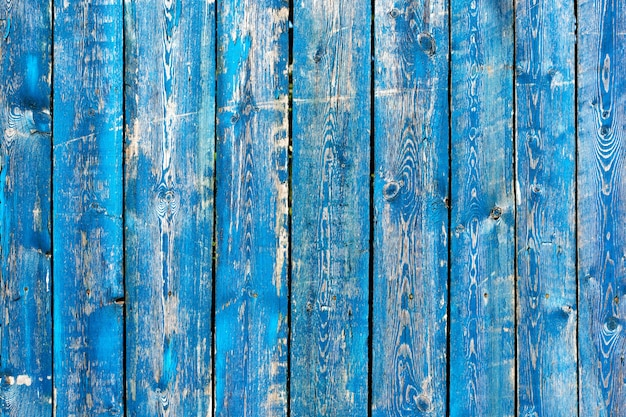 Texture de fond en bois peint bleu et turquoise vintage