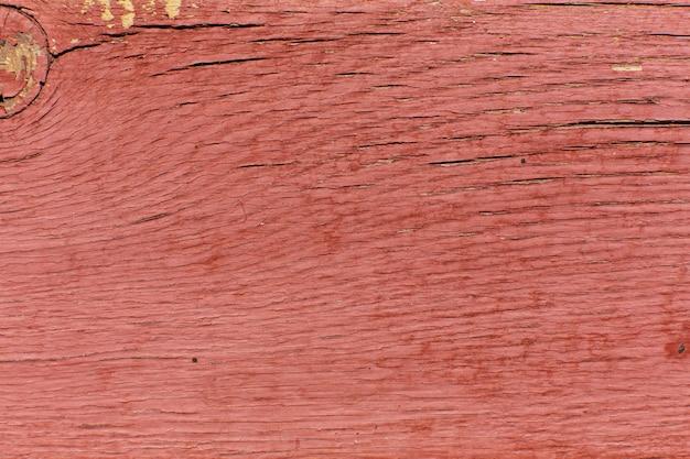 Texture de fond de bois peint rouge