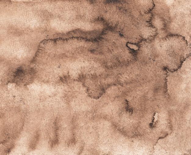 Texture de fond brun antique aquarelle. superposition de couleur taupe clair. vieux fond de parchemin peint à la main.