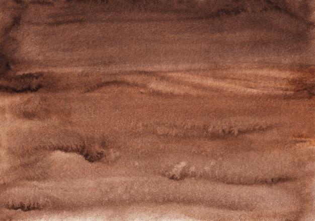Texture de fond brun foncé aquarelle, peint à la main. aquarelle abstraite vieux fond brun chocolat.