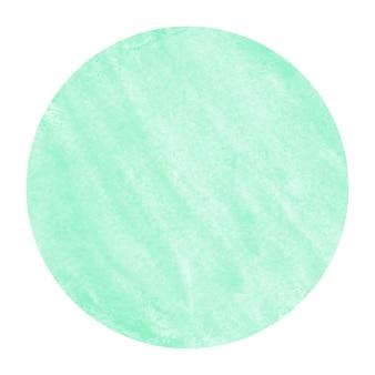Texture de fond de cadre circulaire aquarelle dessiné main turquoise avec des taches