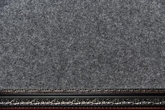 Texture de fond du tissu à poil avec un cadre décoratif.