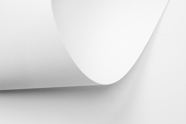 Texture de fond de feuilles de papier blanc tordu pour la conception
