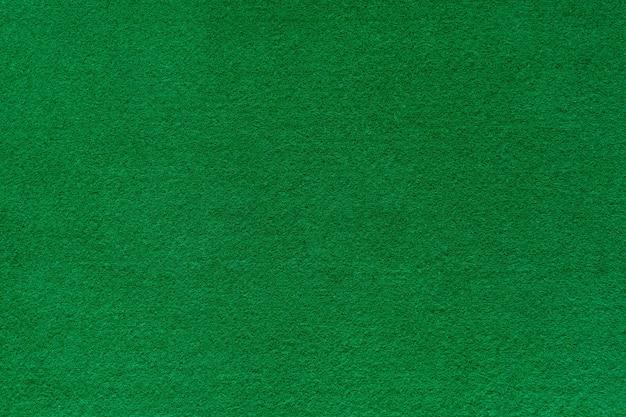 Texture de fond en feutre vert pour table de poker et de casino