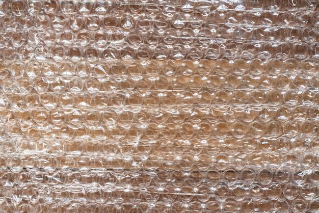 Texture de fond de film d'emballage à bulles