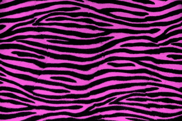 Texture de fond de fourrure de zèbre rose