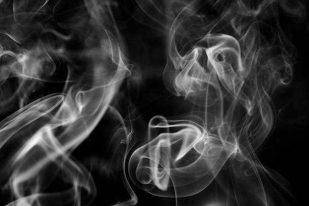 Texture de fond de fumée, dessin abstrait noir