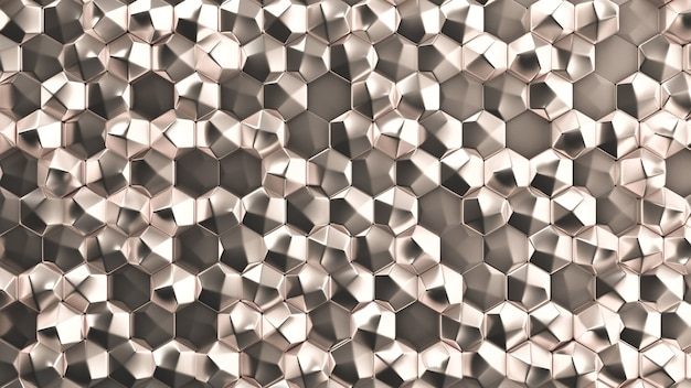 Texture de fond en métal doré. illustration 3d, rendu 3d.