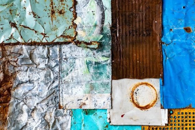 Texture de fond métal rouillé vieux. texture grunge de vieille surface de peinture colorée