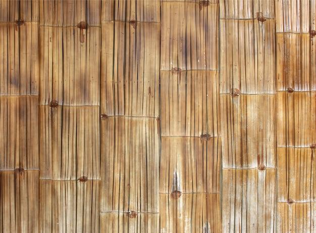 Texture et fond de mur de bambou