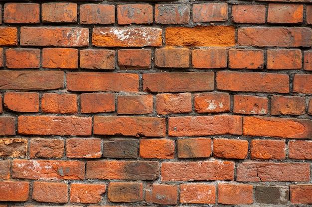 Texture de fond de mur de brique ancienne. maçonnerie d'une vieille brique dans un style rustique.