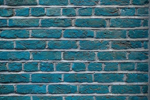 Texture de fond de mur de brique grunge bleu