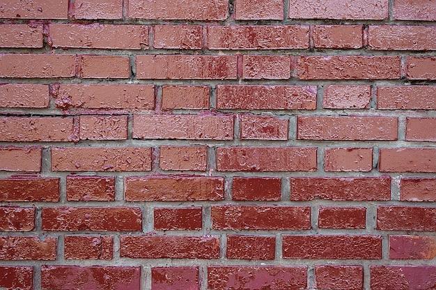 Texture de fond de mur de brique peint vieux rouge foncé