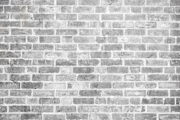 Texture de fond de mur de briques anciennes grises