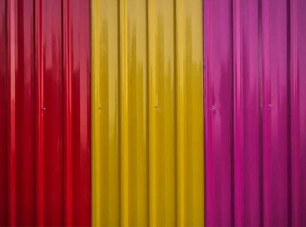Texture de fond de mur de feuilles de zinc coloré