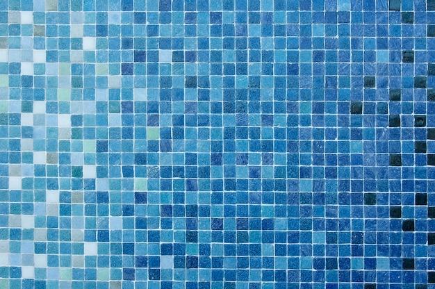 Texture de fond de mur de mosaïque bleue et noire
