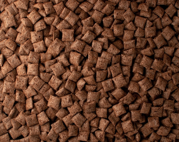 Texture de fond oreillers chocolat