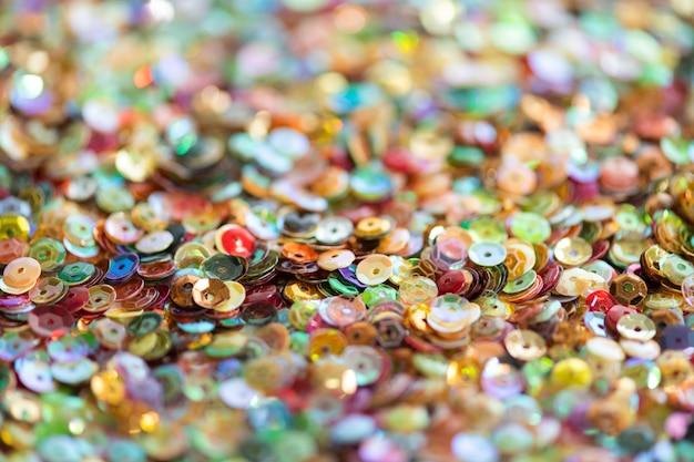Texture de fond de paillettes colorées scintillantes