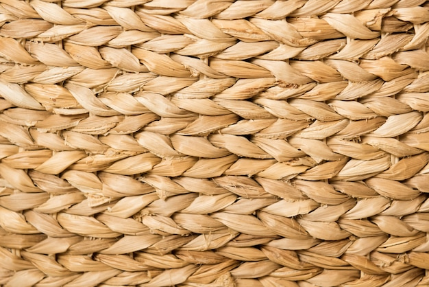 Texture et fond: un panier en osier marron. matériaux naturels